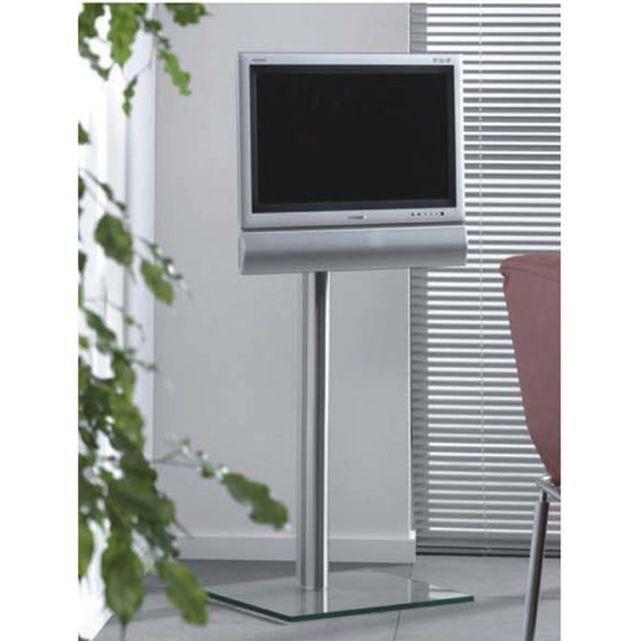 Support De Fixation Tv Lcd 38 53cm Verre Aluminium Vesa Avec