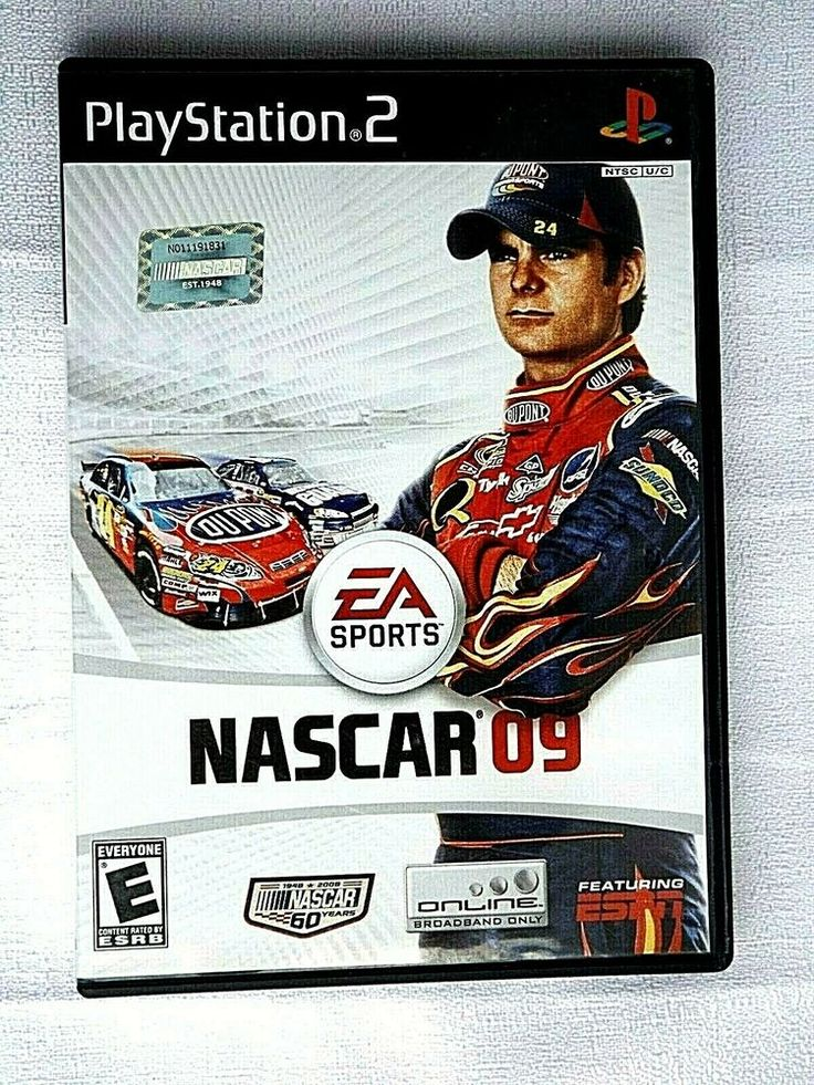 PS2 NASCAR 09 ( Play Station 2 Video Game ) Complete