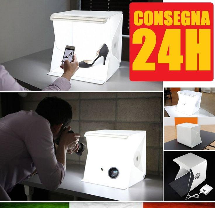 LIGHT ROOM PORTATILE KIT Foto Fotografia Studio professionale Light Box Softbox