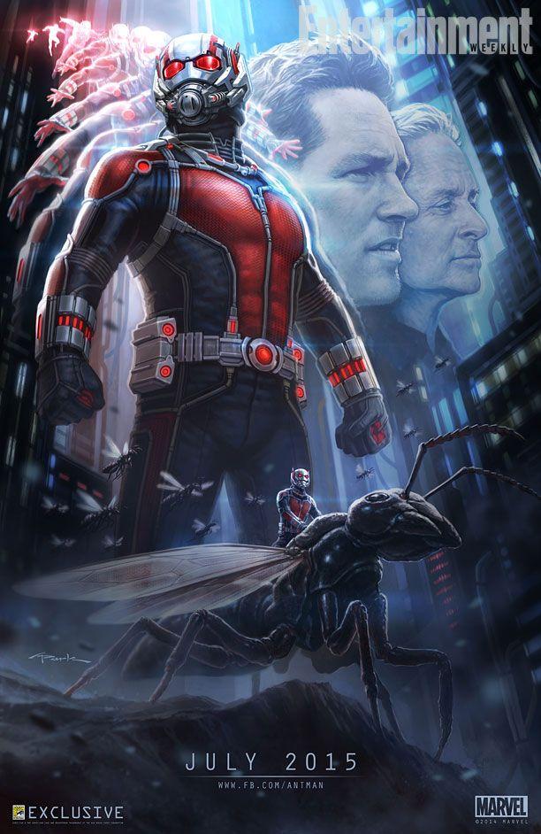 Cartaz do filme do Homem-Formiga liberado durante a Comic Con 2014.