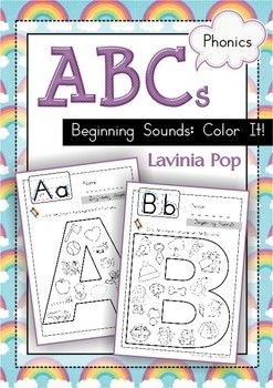 Great Resource! Beginning Sounds Coloring Book For Teaching Your Kids How To Speak