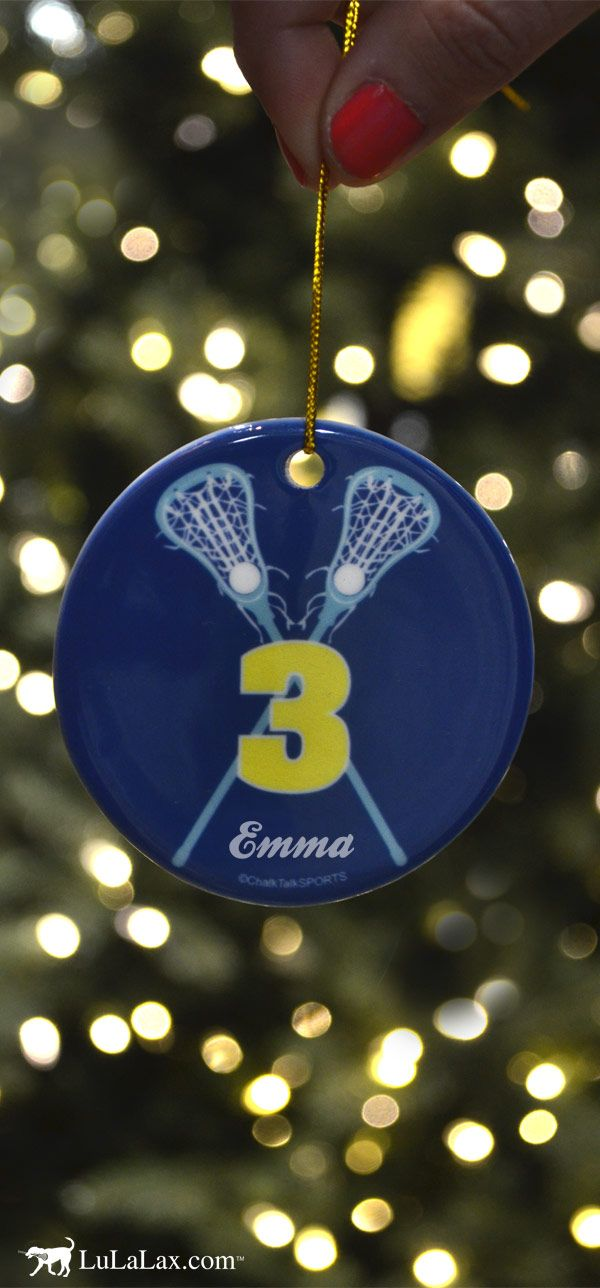 94 best lacrosse christmas images on pinterest girls for Number of ornaments for christmas tree