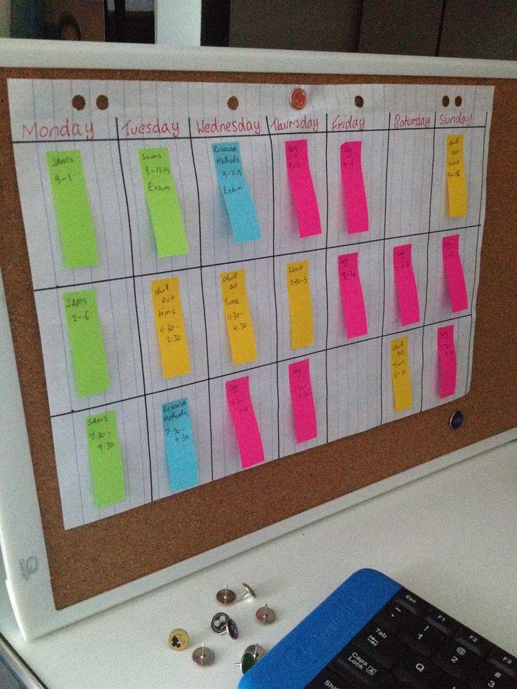 Přes 25 nejlepších nápadů na téma University Timetable na Pinterestu - study timetable