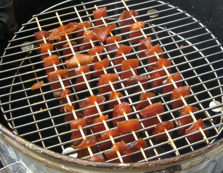 Smoking Home Brined Candied Salmon