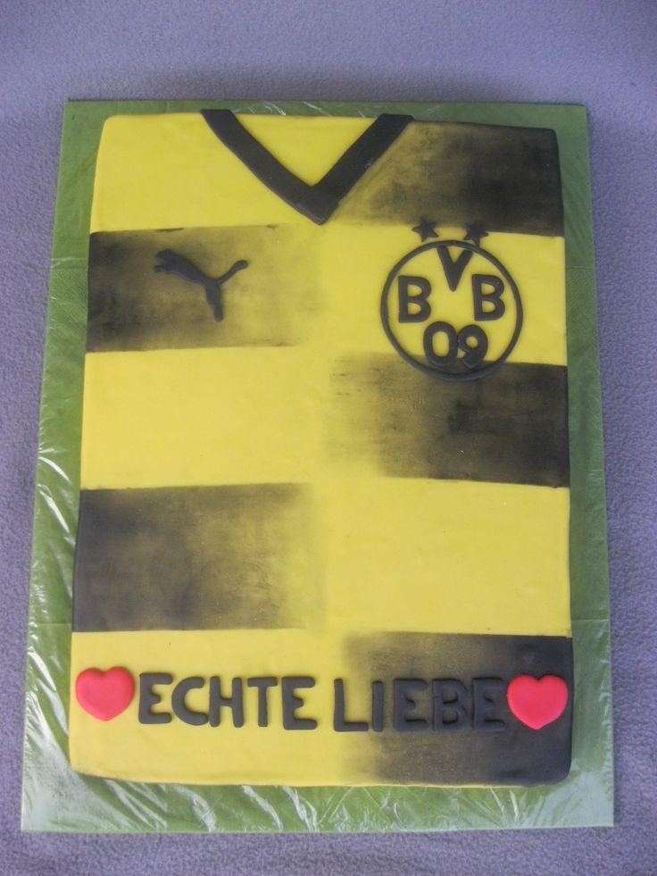 Ein Männer-Traum in gelb-schwarz ist diese BVB-Trikot Torte