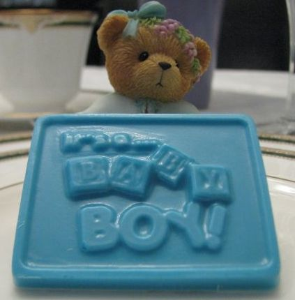 """It's A Baby Boy!"" chocolate square"