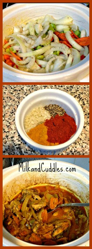 #Paleo #slowcooker recipe for CHICKEN CURRY!! Easy! Pinning for later!