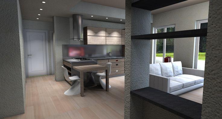 Risultati immagini per cucina soggiorno unico ambiente