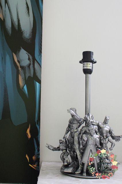 Pied de lampe garçon originale geek figurines d'action Super Héros industriel, marvel, dc, comics, addicts, tortues ninja, transformers, ben10, skylanders, ironman, batman spiderman, déco chambre enfants, adultes, lampe de bureau