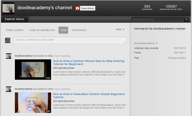 Doodle Academy, una gran colección de vídeos para enseñar a dibujar a los niños
