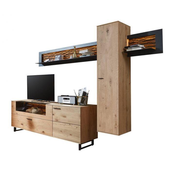 wohnwand chicago zurbr ggen heldaanhuis. Black Bedroom Furniture Sets. Home Design Ideas