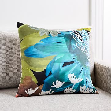 Floral Collage Silk Pillow Cover #westelm