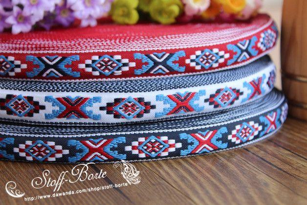 Rollos de cintas - Cinta tejido 4.5m bordado clásico vintage ribete - hecho a mano por stoff-borte en DaWanda
