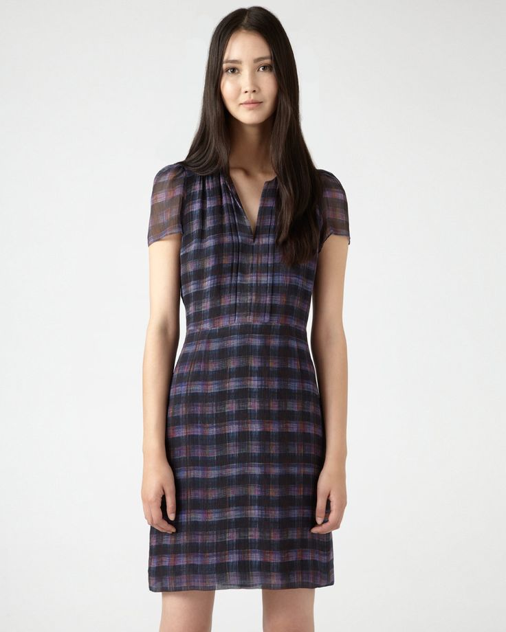 Jigsaw Jewel Check Soft Pleat Dress, £169. This dress has not received a lot of attention and I believe it is because of how people are styling it. I would not wear it on its own like in the picture. When I first saw it I thought of Keira Knightley because of the print. I would wear it with a thin black long sleeve (v-neck) top underneath with the sleeves rolled up, thin belt, black tights, biker boots and a beanie hat. It has the potential to be really cool.