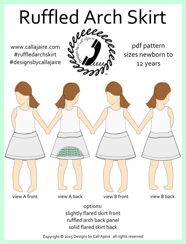 Ruffled Arch Skirt PDF Pattern - pinned by pin4etsy.com