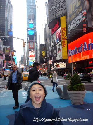 My son, Aria. NYC Times Square, 2010