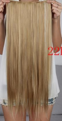 """New Long 24"""" Ladies' Clip in On Hair Extensions Straight Synthetic Hairpiece 20 Colors Available 1Pcs/Lot-in Synthetic Hair Extensions from ..."""