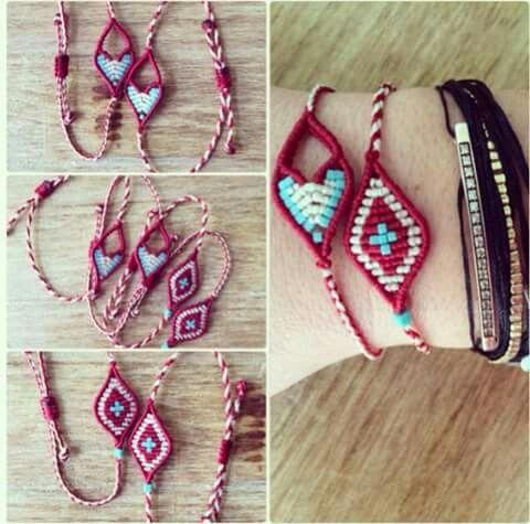 Macrame march bracelets