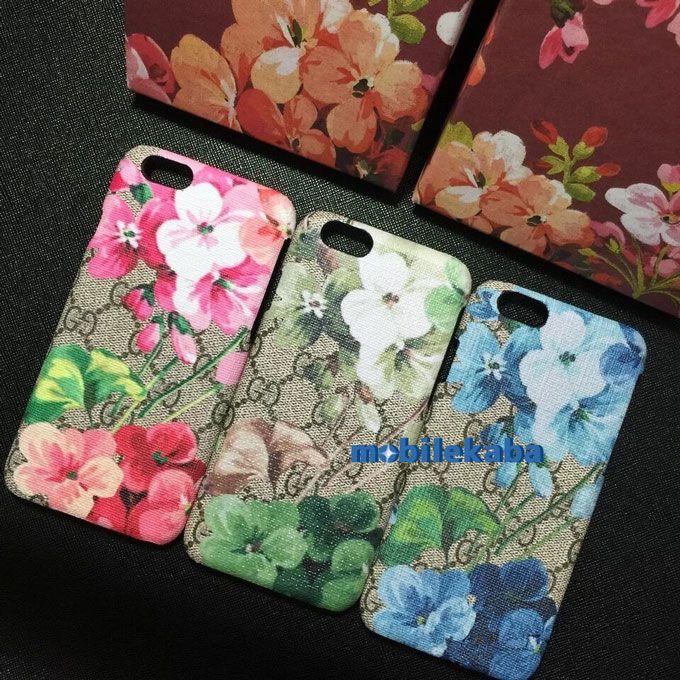 有名な贅沢品ブランド風グッチGucciのiPhone8、iPhone7ケース。刺繍の花柄ファッションなデザインで綺麗、女子力どんどん上昇させる!!