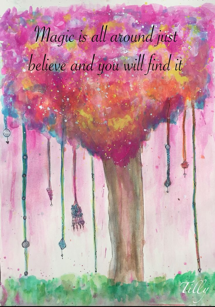Magic you just need to believe. Watercolour . Quote. Positivity