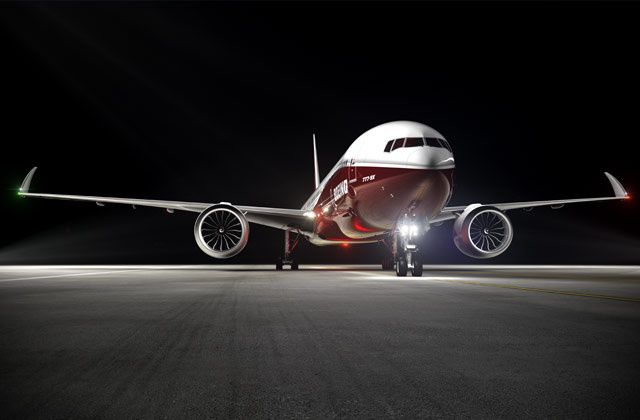 The Boeing 777X is so big that it requires folding wingtips.