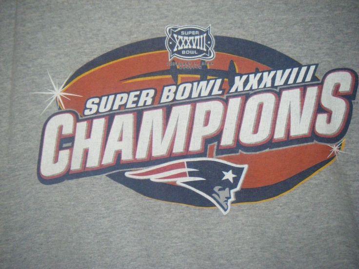 New England Patriots T-Shirt Super Bowl XXXVIII Champions Mens M #Unbranded #NewEnglandPatriots