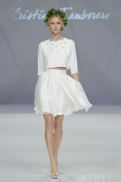 Vestidos de novia cortos 2017: los diseños más TOP. ¡Elige el tuyo! Cristina Tamborero 2017.