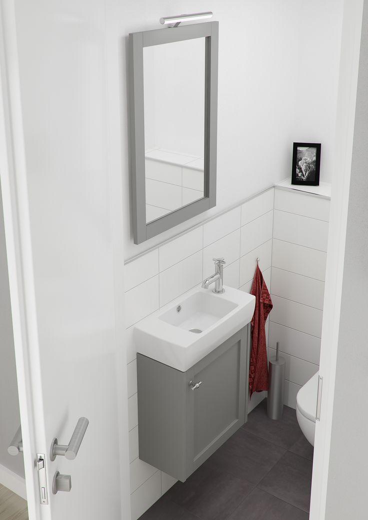 Bruynzeel fano fonteinmeubel 50 cm puurgrijs badmeubel for Commode salle de bain ikea
