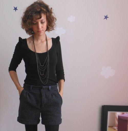 Couture short femme patron Burda N°115 06/10 * Au fil de la Lune * blog couture