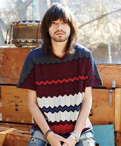 glamb(グラム)のGreck border summer knit(ニット/セーター)|レッド