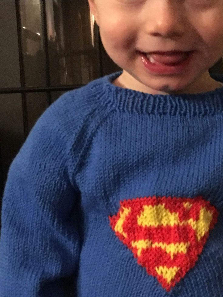 Strikkeopskrift Superman sweater