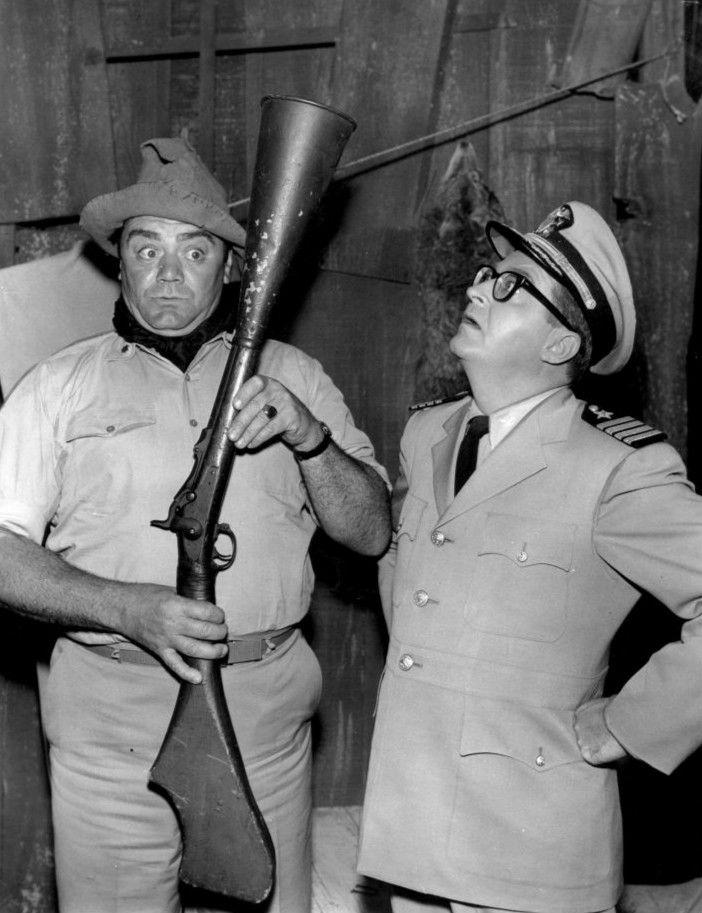 mchale's navy | File:Ernest Borgnine Joe Flynn McHale's Navy 1963.JPG - Wikimedia ...