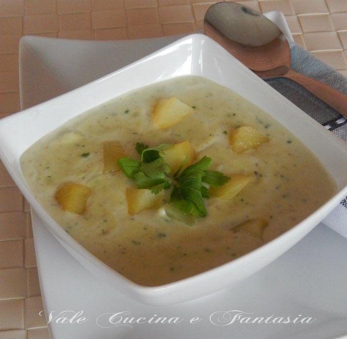Vellutata di patate e carciofi cremosa calda e gustosa ideale per le fredde serate invernali salutare e leggera