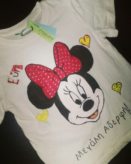 #Minnie, #handpainted handpainted tshirt  hand painted t shirt, cotton fabric, non-toxic, water based, permanent fabric colors