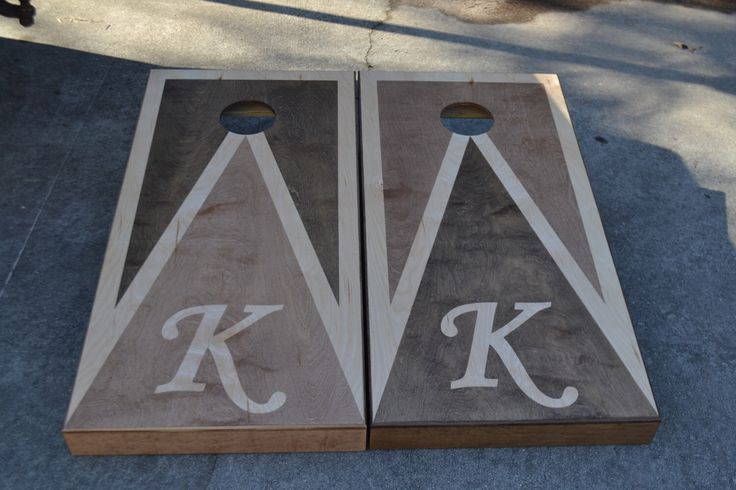 Monogrammed Initial. D. Custom Full Size Stained Cornhole Boards Set with Bags by therustysuitcase on Etsy https://www.etsy.com/listing/286101009/monogrammed-initial-custom-full-size
