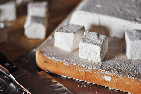 homemade marshmallows! yumm! note to all hobby cooks out there: use a ...