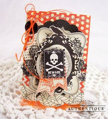 Thrilling Card by Authentique Paper Design Team Member Andrea Budjack