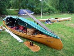 Enno's tent for his open sailing canoe