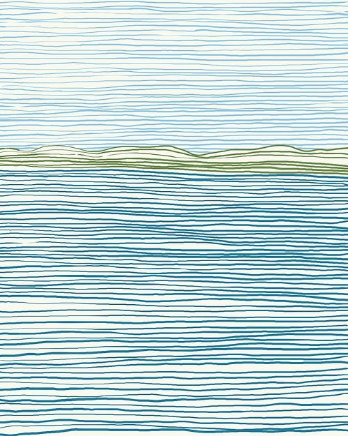 """Surprise beach weather both days this weekend. View across the Bay from Crissy Field. 16"""" x 20"""" Fine Art Print. $80."""