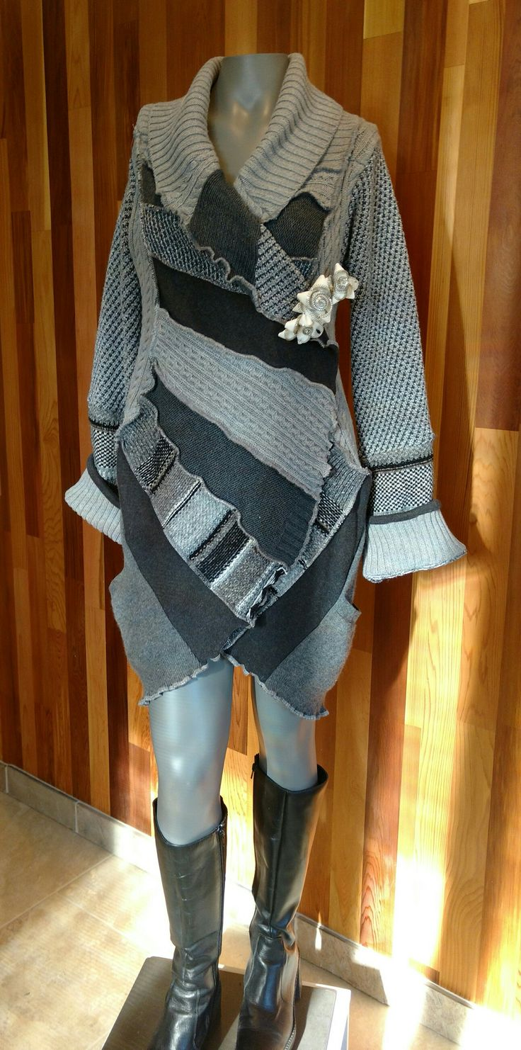 Grey Tweed Fan Favorite Coat front view
