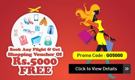 Get flat Rs. 1,000 off on booking of Jet Airways domestic round-trip flights on goibibo.com. Minimum booking value should be Rs. 6,000.