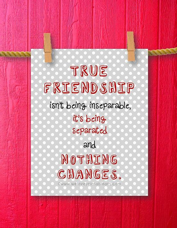 Gift For Best Friend Wall Decor Quote Printable Art