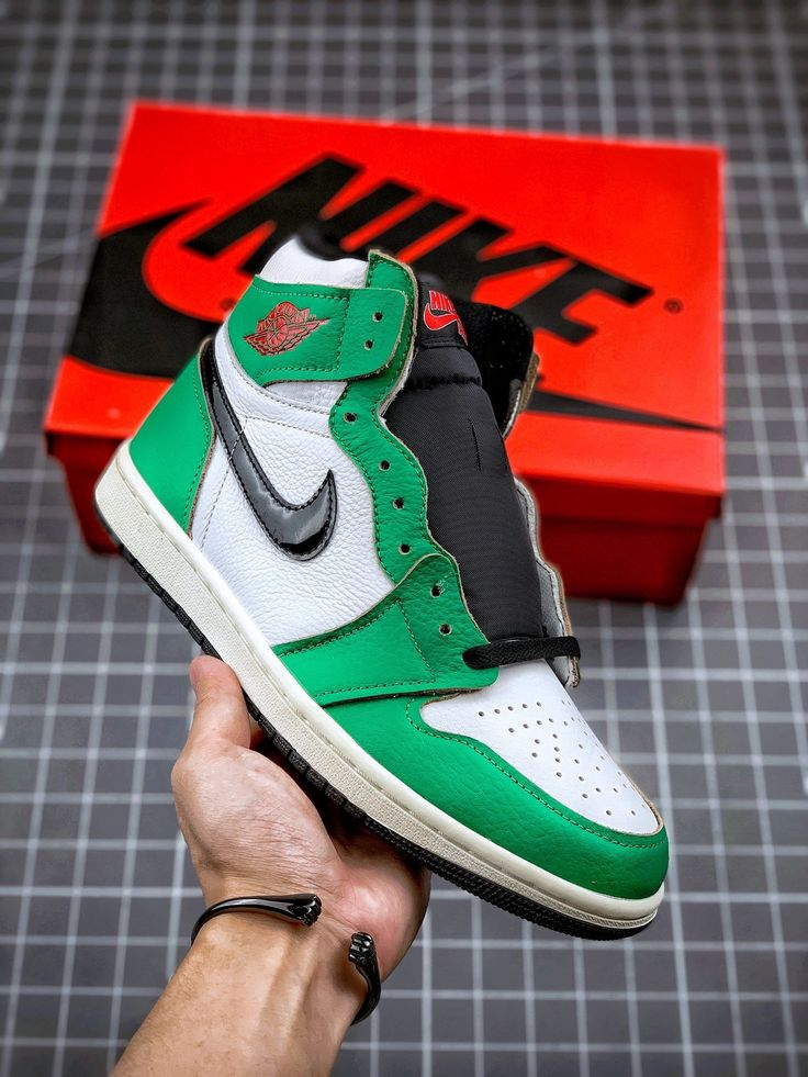 "Nike Air Jordan 1 High OG"" Lucky Green""DB4612-300 | Nike air shoes ..."