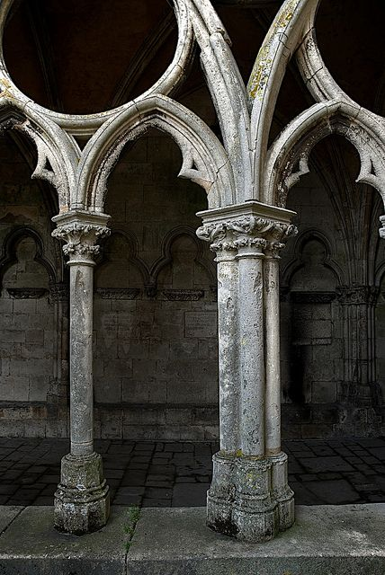 Gothic arches, the stone and shape are Gothic, they give the appearance from being in a church