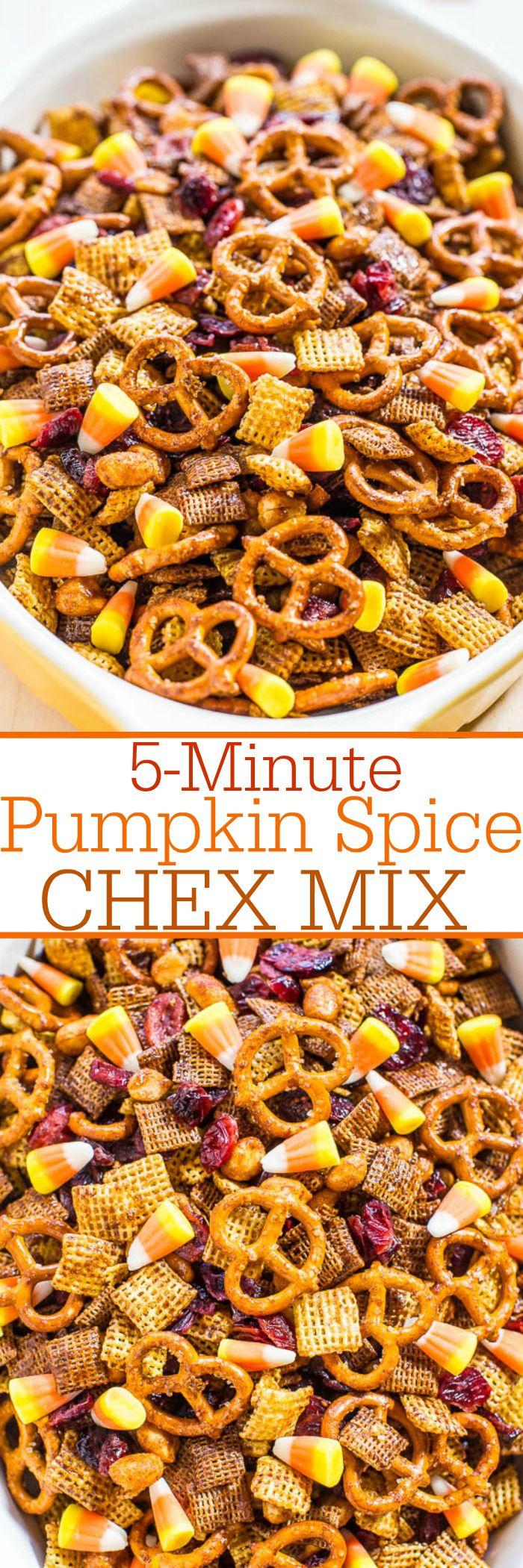 5-Minute Pumpkin Spice Chex Mix