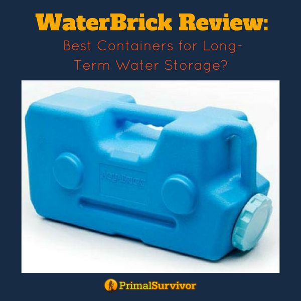 WaterBrick Review: Best Containers for long term Water Storage. #emergencywater #emergencypreparedness #preppers #primalsurvivor #survivalist