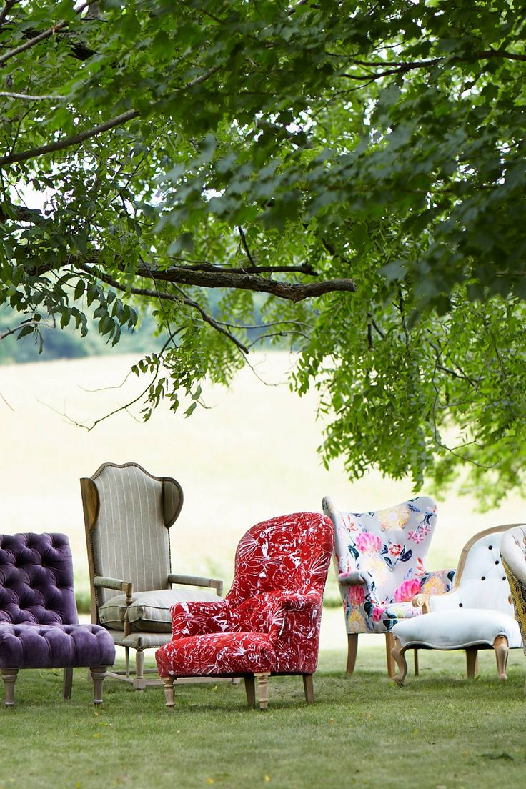 #Printed #Parker #Armchair #Anthropologie