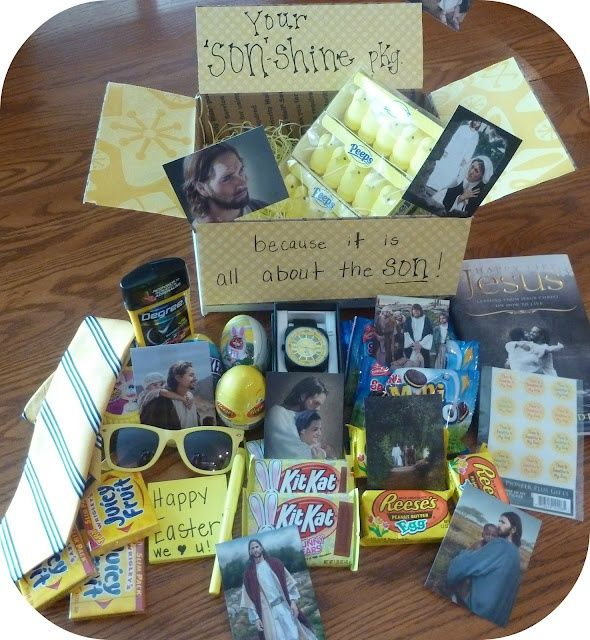 Missionary Easter Package, would be cute for out of town fam if u replaced the Jesus pix with family pix