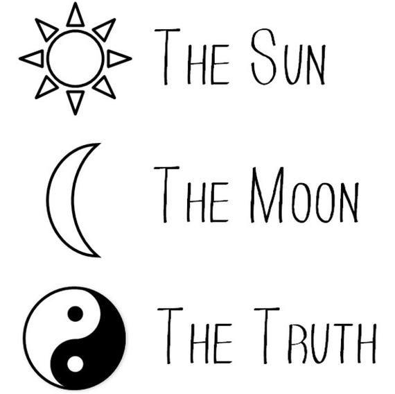 The Sun The Moon The Truth Temporary Tattoo Ying Yang Tattoo Sun Tattoo Moon Tattoo Crescent Tat Truth Tattoo Ying Yang Tattoo Yin Yang Quotes