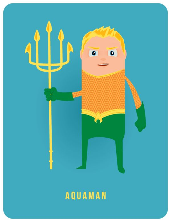 50 Heroes in 50 Days by Adam Thompson, via Behance